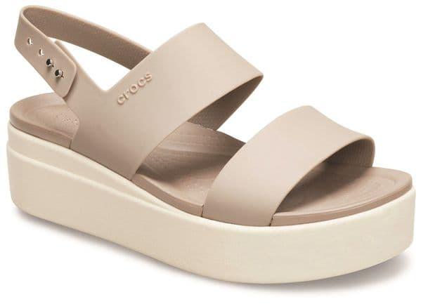 Crocs Brooklyn Low Wedge Sandal Ladies Summer Cream